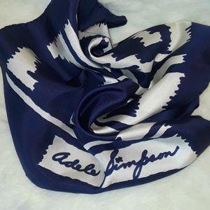 Vintage 1940s Adele Simpson silk scarf
